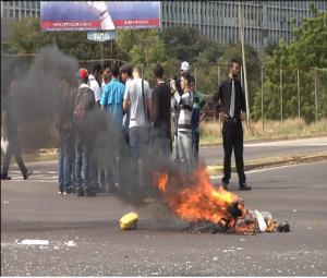protesta estudiantil rectorado nuevo 25 de octubre