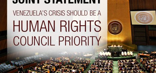 Joint statement - Venezuela's Crisis Should be a Human Rights Council Priority
